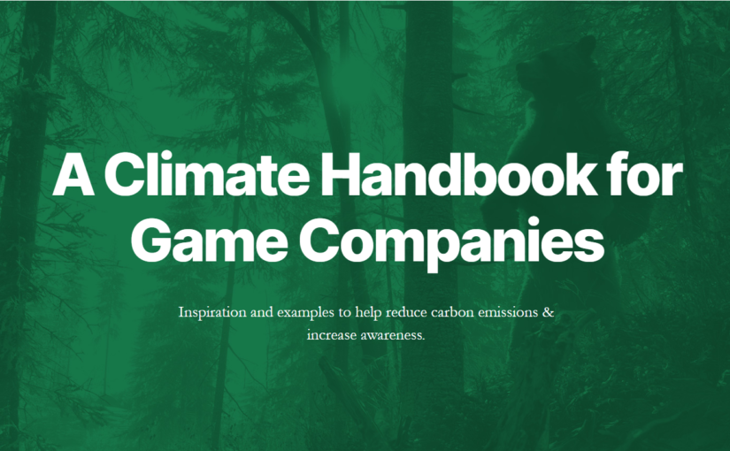 A Climate Handbook for Game Companies